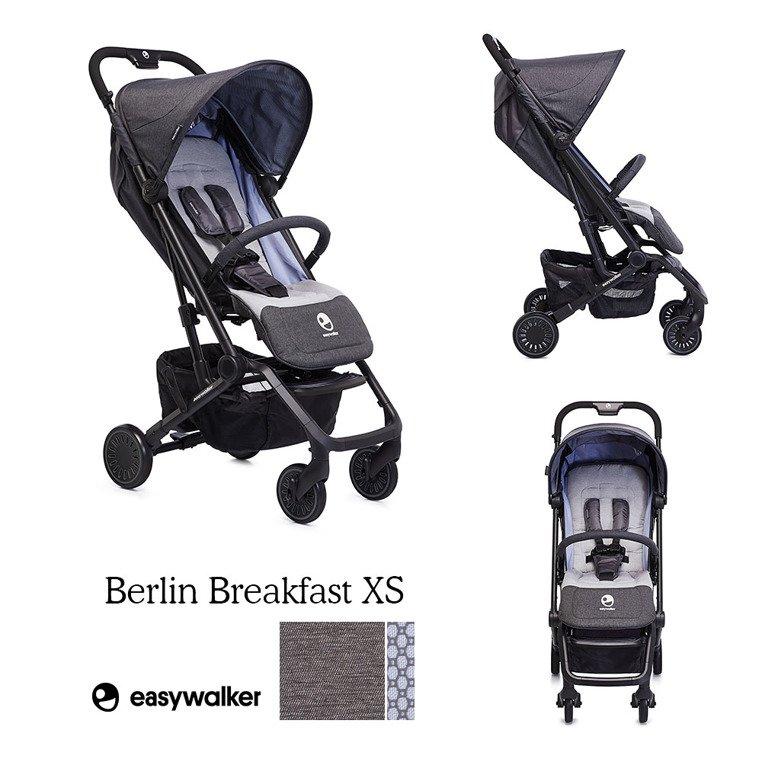 Easywalker Buggy XS Wózek spacerowy z osłonką przeciwdeszczową Berlin Breakfast
