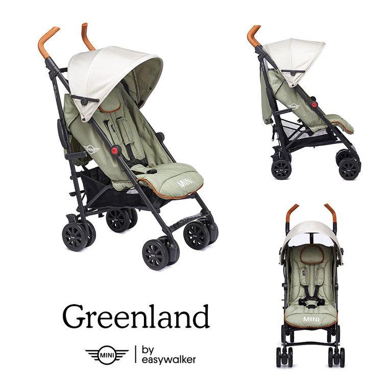MINI by Easywalker Buggy+ Wózek spacerowy z osłonką przeciwdeszczową Greenland