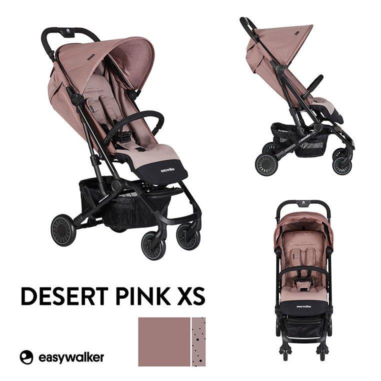 Easywalker Buggy XS Wózek spacerowy z osłonką przeciwdeszczową Desert Pink