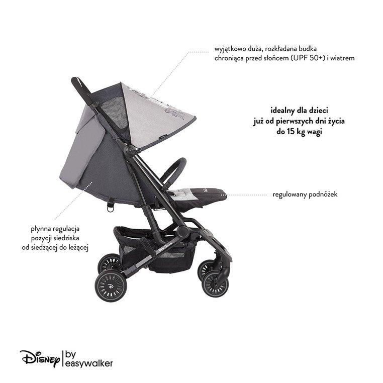 Disney by Easywalker Buggy XS Wózek spacerowy z osłonką przeciwdeszczową Mickey Shield